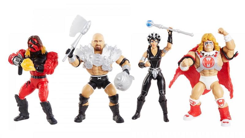 Mattel – Masters of the WWE Universe Series 6 – Goldberg, Kane, Stephanie McMahon, & Ultimate Warrior