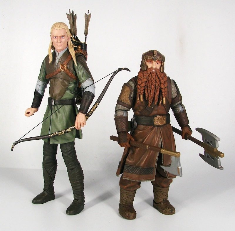 Diamond Select Toys Lord of the Rings Select Series 1 Legolas & Gimli Figures In-Packaging