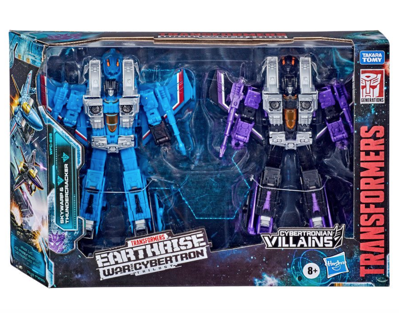 Entertainment Earth – Transformers Generations War for Cybertron Earthrise Voyager Skywarp & Thundercracker Set In-Stock