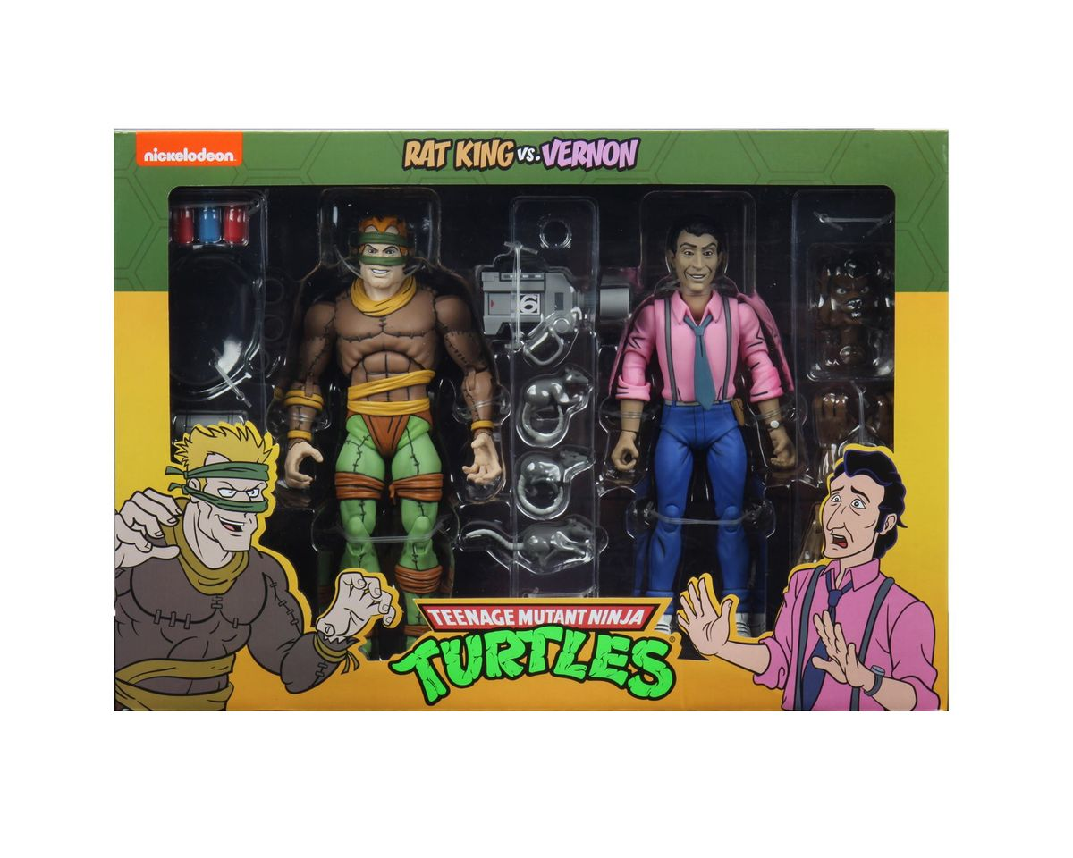NECA Toys Teenage Mutant Ninja Turtles Rat King & Vernon 2 Pack Figures In-Packaging