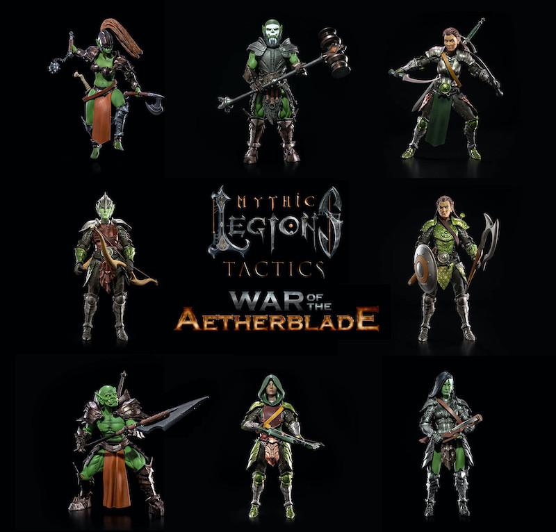 Four Horsemen Studios – Mythic Legions Tactics – War of the Aetherblade Game & Figures