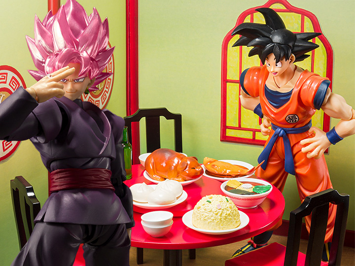 Bandai Tamashii Nations S.H. Figuarts Goku Black -Super Saiyan Rose & Goku Eating Scene Set Pre-Orders