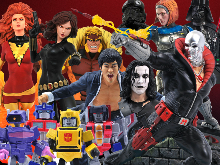 Diamond Select Toys Solicitations For August 2021 – G.I. Joe, Transformers, Marvel, Star Wars, The Crow, Bruce Lee & More