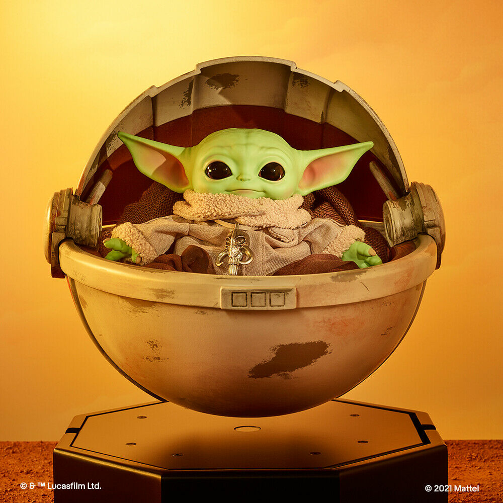 Mattel Creations – Star Wars The Mandalorian The Child With In Floating Hover Pram eBay Auction For Charity