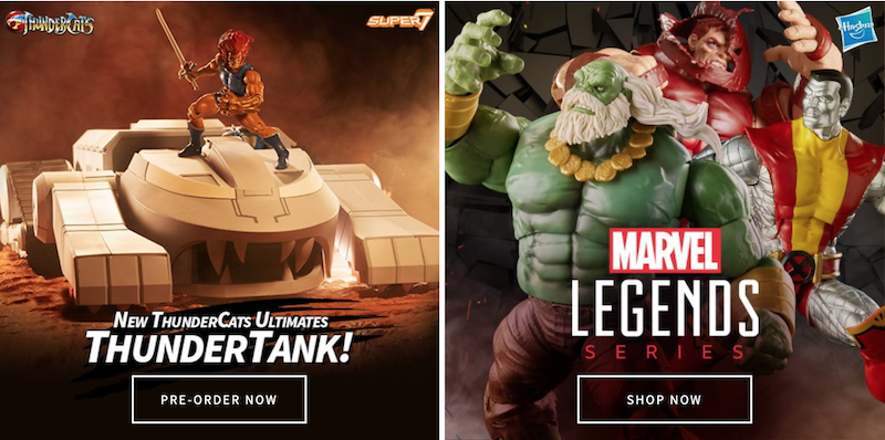 Entertainment Earth News – Marvel, Star Trek, Back to The Future, Thundercats, Outlet Deals & More