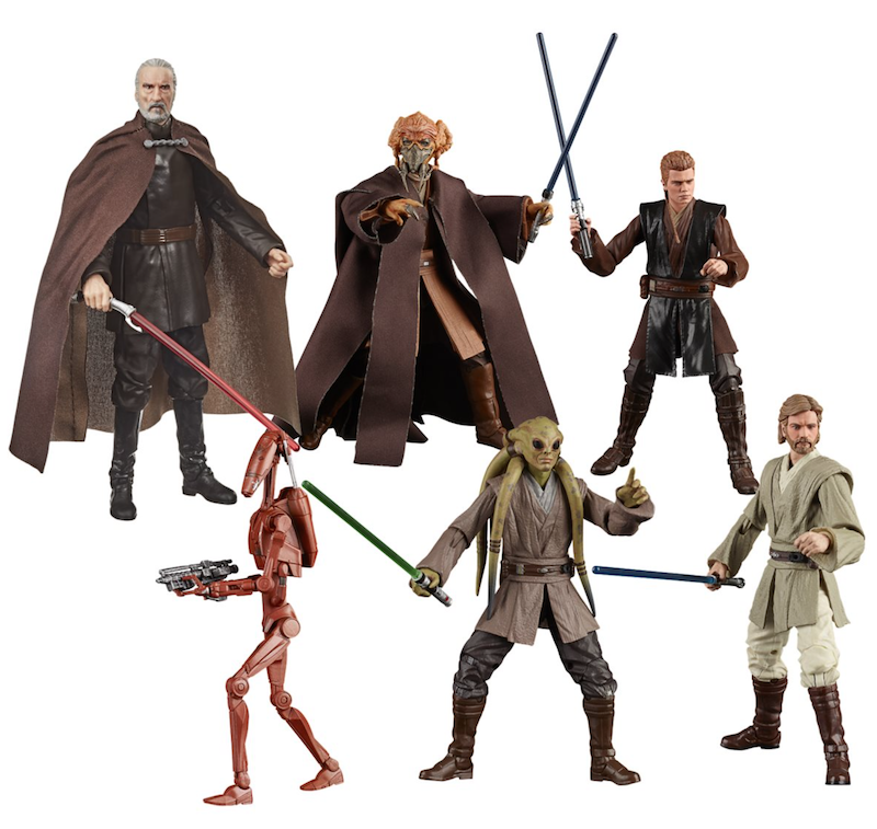 Entertainment Earth – Hasbro Star Wars TBS 6″ Battle Droid, Kit Fisto, Plo Koon, Count Dooku Case Assortment