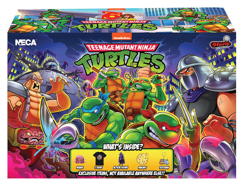 NECA Toys Teenage Mutant Ninja Turtles Stern Pinball Crate with Exclusive Shredder Figure