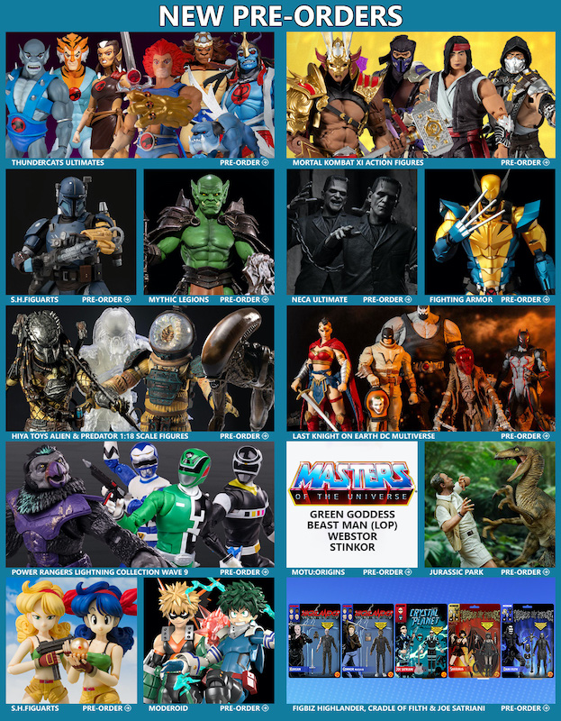 BigBadToyStore News – ThunderCats, Mortal Kombat, Power Rangers, Frankenstein, Mythic Legions, Star Wars, DC Multiverse, Wolverine & More