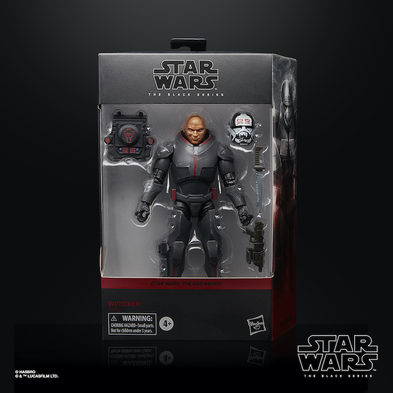 Hasbro Star Wars The Black Series First Order Stormtrooper Helmet & Wrecker Figure Revealed