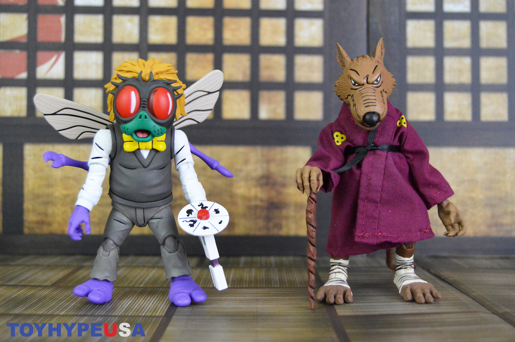 NECA Toys Teenage Mutant Ninja Turtles Splinter and Baxter Stockman Figures Review