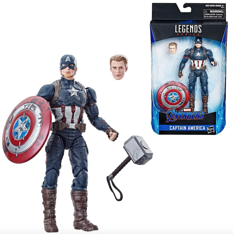Hasbro Brings Back Marvel Legends Avengers Endgame Captain America Worthy, Valkyrie & Spider-Man Figures