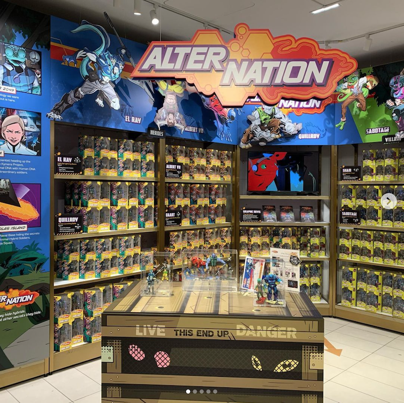 PandaMony Toys – Alter Nation Figures At FAO Schwarz In New York City