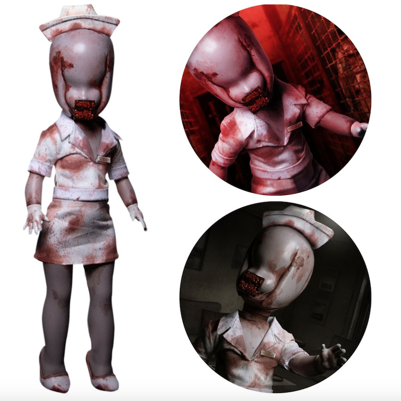 Mezco Toyz LDD Presents Silent Hill 2: Bubble Head Nurse 10″ Doll Pre-Orders