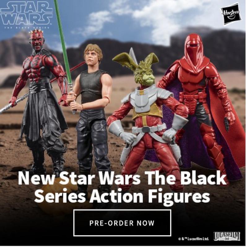 Hasbro Star Wars TBS Expanded Universe Luke Skywalker, Carnor Jax, Darth Maul & Jaxxon Rabbit Figures Pre-Orders