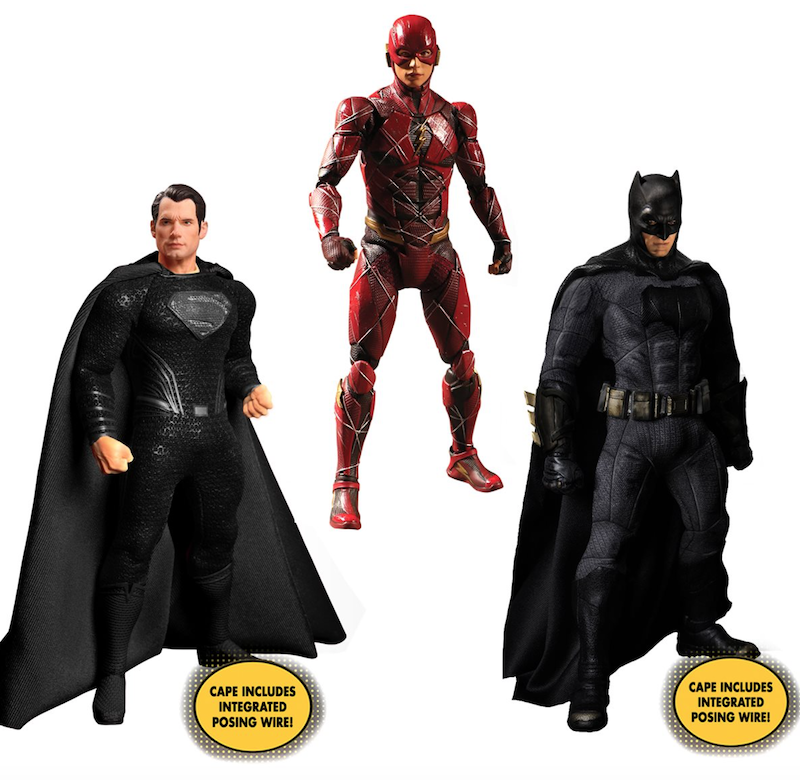 Mezco Toyz Justice League Zack Snyder's Deluxe One:12 Collective Steel Boxed Set Pre-Orders