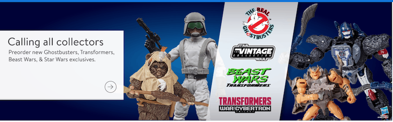 Wal-Mart Exclusive Beast Wars, TVC, Real Ghostbusters Ecto-1 & War for Cybertron Figure Pre-Orders