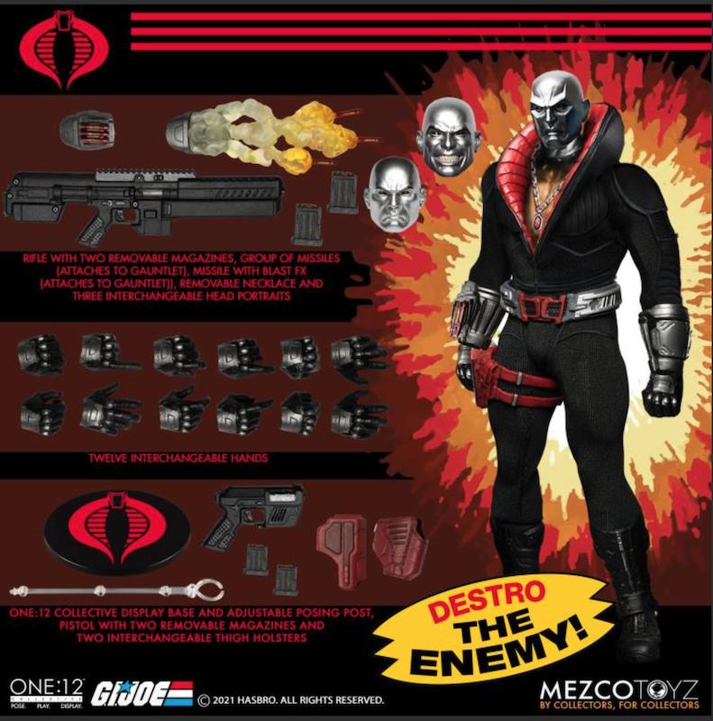 Mezco Toyz One:12 Collective G.I. Joe  Destro Figure Pre-Orders