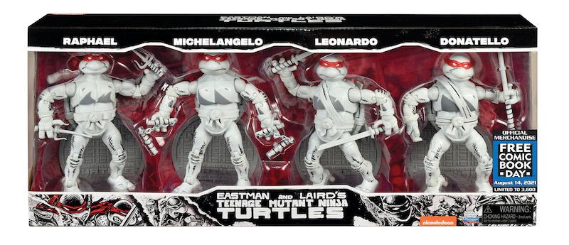 Playmates Toys Teenage Mutant Ninja Turtles Ninja Elite Series FCBD 2021 Exclusive Box Set Pre-Orders