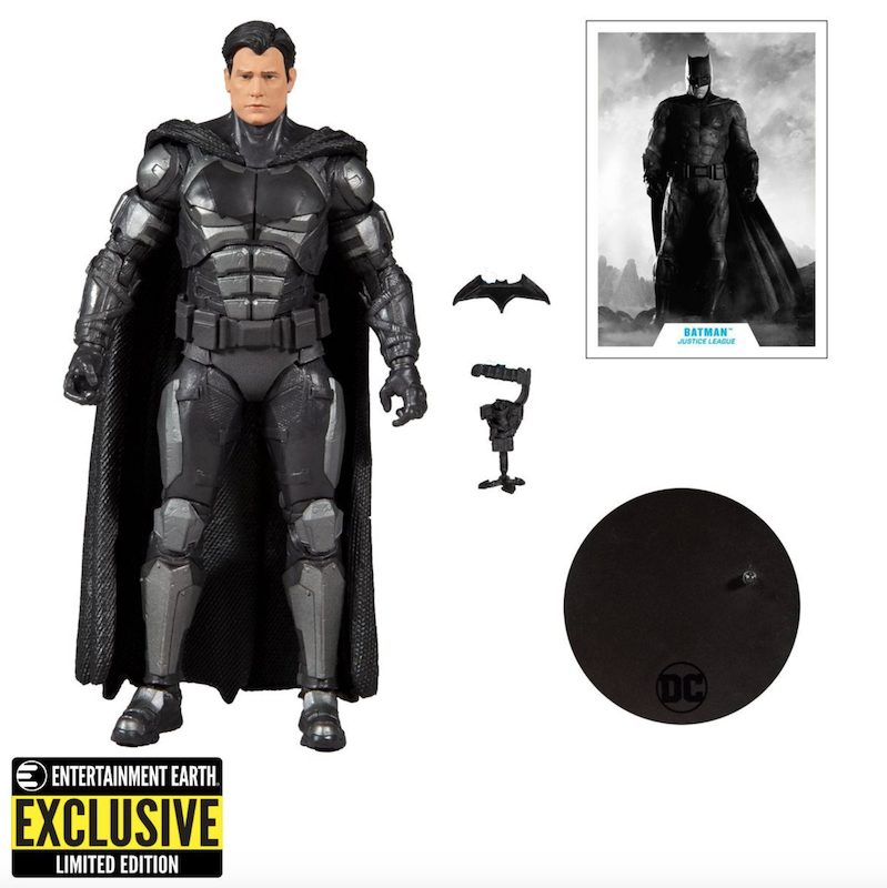 Entertainment Earth Exclusive – DC Zack Snyder's Justice League Unmasked Batman Bruce Wayne Figure Pre-Orders