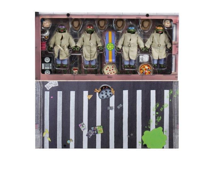 NECA Toys Teenage Mutant Ninja Turtles Cartoon Series Disguise 4-Pack Figures In-Packaging