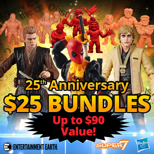 Entertainment Earth – 25th Anniversary Sale – Capcom M.U.S.C.L.E., Alien, MOTU, Star Wars & More