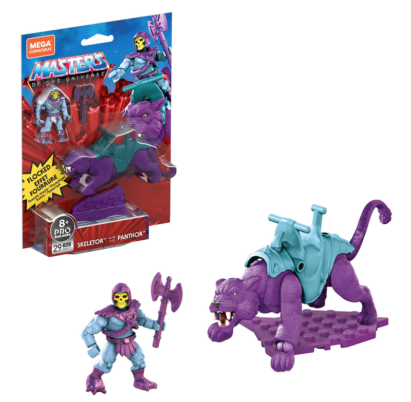 Mega Construx – Masters Of The Universe Wal-Mart Exclusive Skeletor & Panthor (Flocked) Figure 2-Pack In-Stock