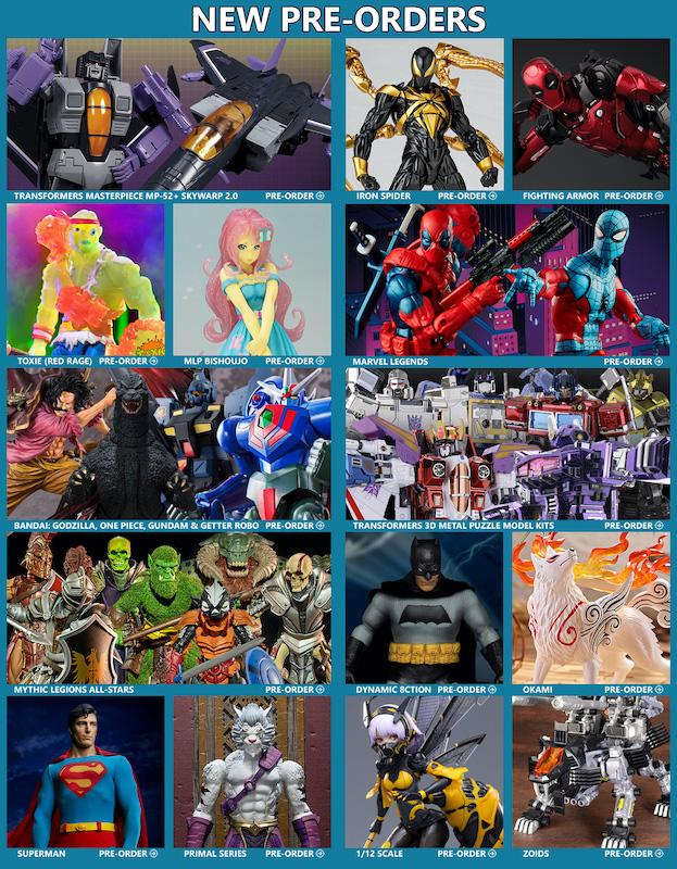 BigBadToyStore News – Transformers Masterpiece, Toxic Crusaders, Marvel Legends, Batman, Mythic Legions, Godzilla, MLP, Zoids, Anime and More
