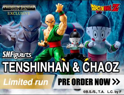 Premium Bandai – S.H. Figuarts Dragon Ball Z Tenshinhan & Chaoz Figures Are Selling Great
