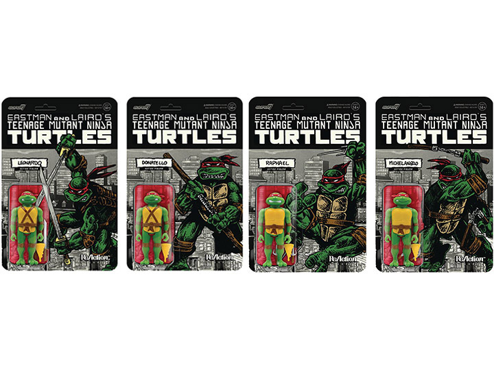 Super7 TMNT ReAction Mirage Variant PX Previews Exclusives Boxed Set Pre-Orders