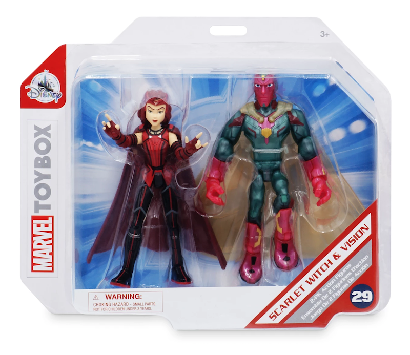 Disney Store Exclusive – Marvel Toy Box WandaVision – Scarlet Witch & Vision, Carnage Figures Available Now