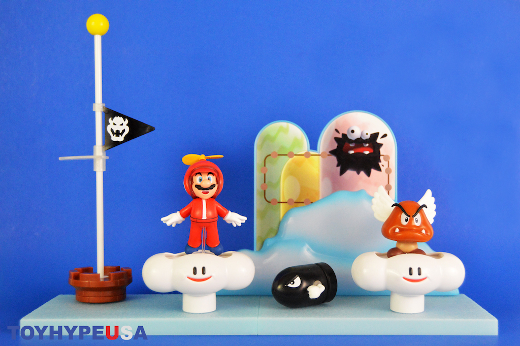 Jakks Pacific Super Mario 2.5″ Scale Cloud World Diorama Set Review