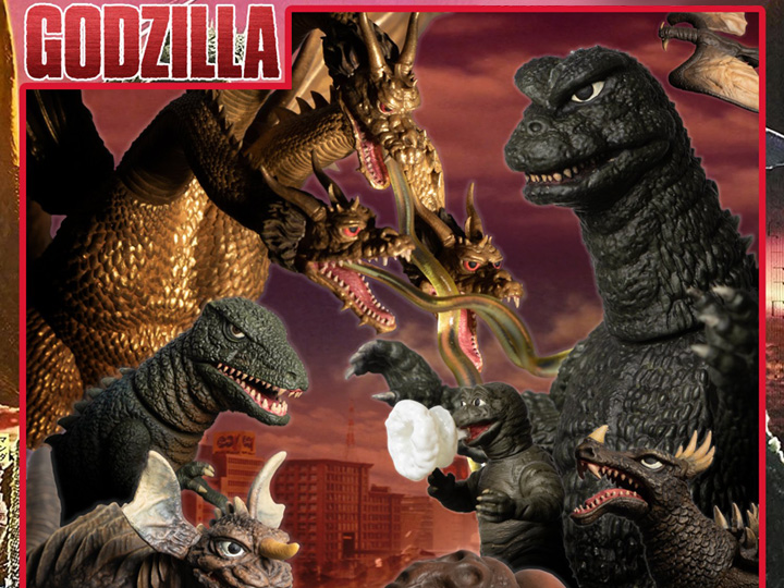 Mezco Toyz Destroy All Monsters 5 Points XL Round 1 & 2 Deluxe Boxed Set Pre-Orders