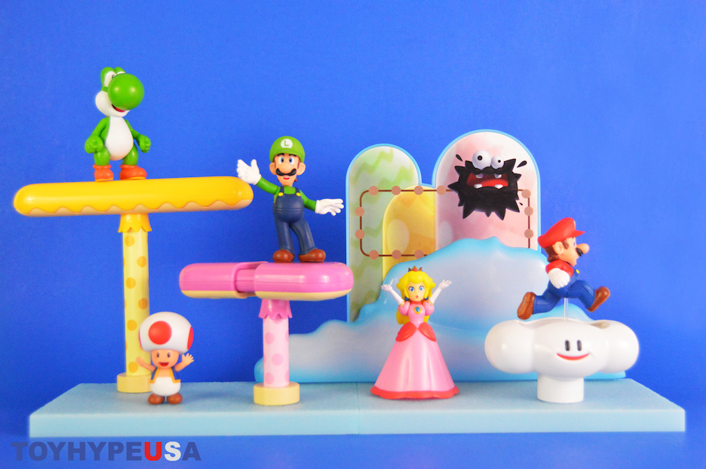 Jakks Pacific Super Mario 2.5″ Scale Cloud Diorama Playset Review