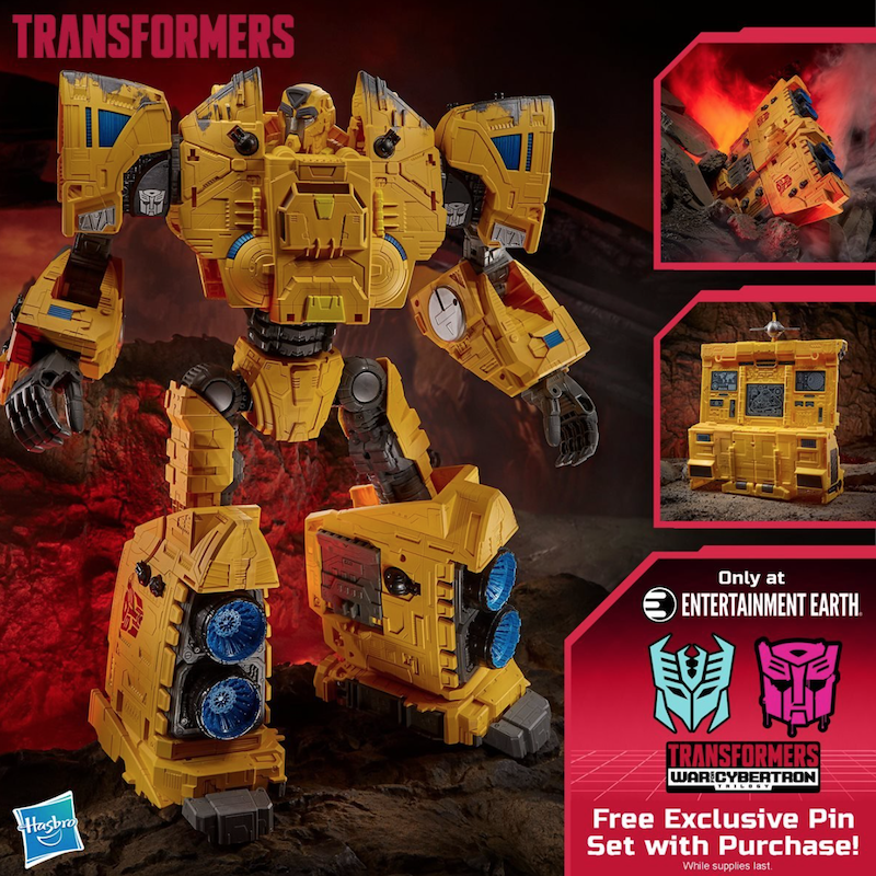 Entertainment Earth Exclusive Pins With Purchase Of Transformers War for Cybertron Kingdom Titan Autobot Ark