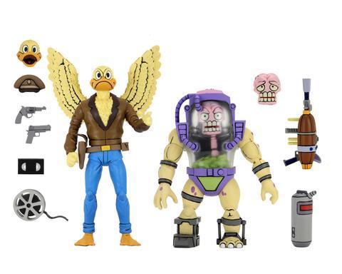 NECA Toys Teenage Mutant Ninja Turtles Classic Cartoon – Ace Duck & Mutant Man Figure 2-Pack Pre-Orders