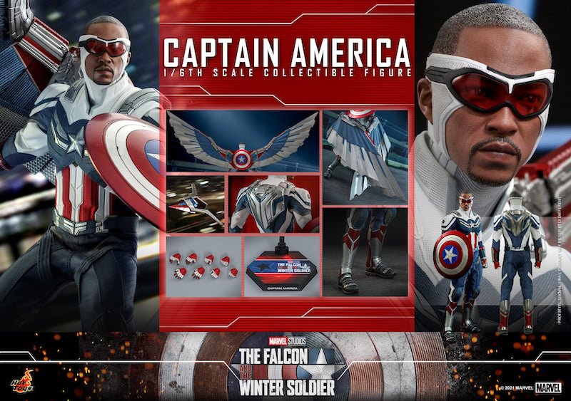 Hot Toys The Falcon and The Winter Soldier – Sam Wilson Captain America Sixth Scale Figure Pre-Orders