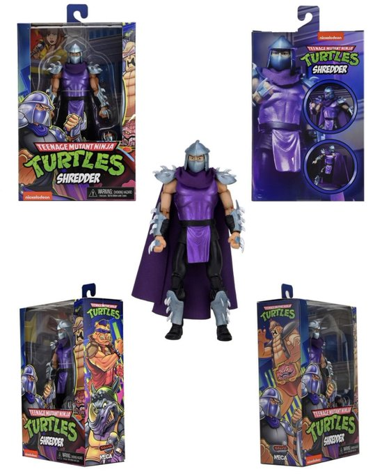 NECA Toys Teenage Mutant Ninja Turtles Stern Pinball Crate with Exclusive Shredder Figure – New Images