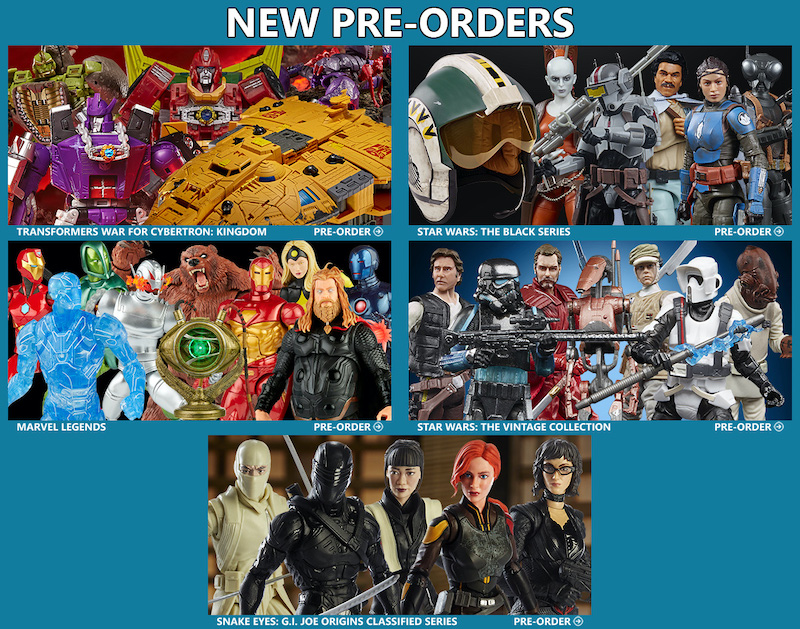 BigBadToyStore News – Transformers WFC: Kingdom, Star Wars: Black Series, Marvel Legends, G.I. Joe Classified Series, & SW: The Vintage Collection