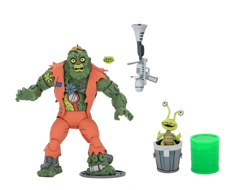 NECA Toys Teenage Mutant Ninja Turtles Classic Cartoon Series Ultimate Muckman with Joe Eyeball Figures
