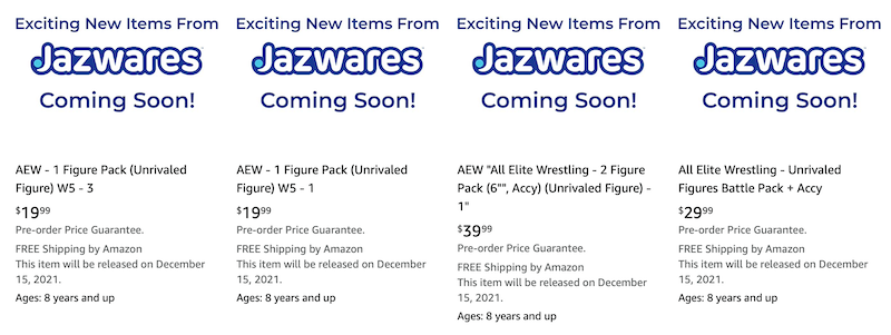 Jazwares – AEW Unrivaled Figure Pre-Orders On Amazon