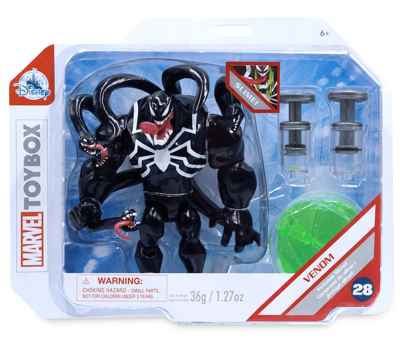 Disney Store Exclusive Marvel Toy Box Venom with Green Slime Figure Available Now