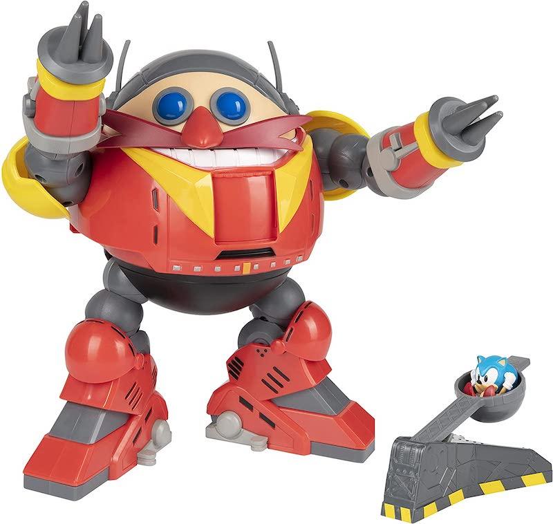 Jakks Pacific Sonic The Hedgehog Giant Eggman Robot Battle Set with Catapult Figure