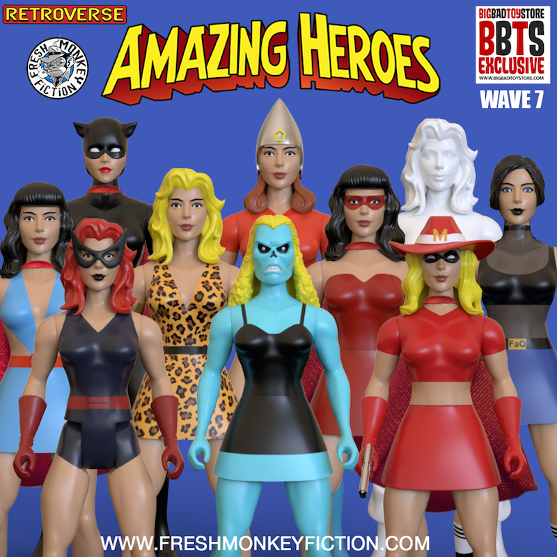 "BigBadToyStore and Fresh Monkey Fiction team up for exclusive Amazing Heroes ""Girl Power"" Wave"