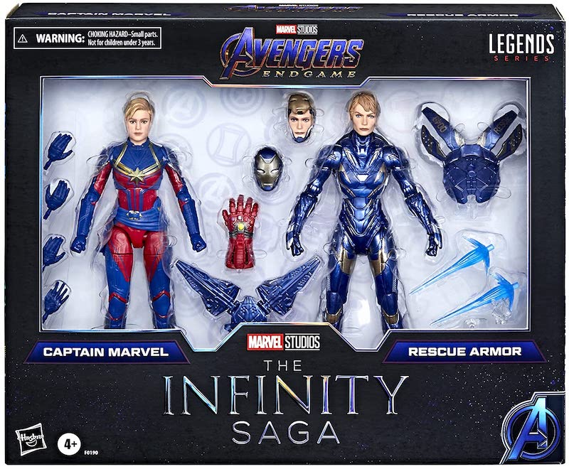 Hasbro Marvel Legends Avengers Infinity Captain Marvel and Rescue, Iron Man Mark 3 Pre-Orders