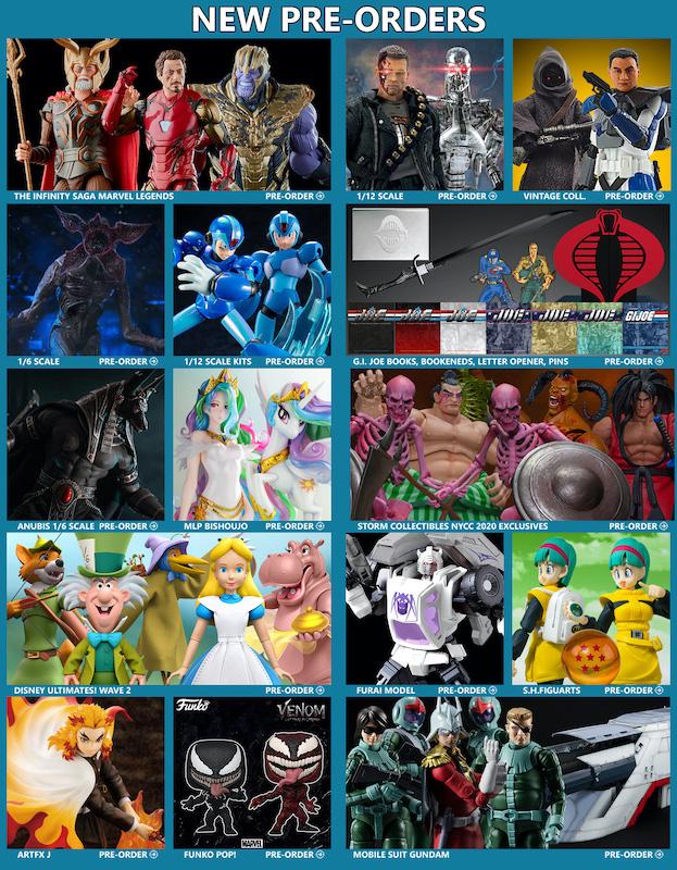 BigBadToyStore News – Marvel Legends, Terminator, Stranger Things, NYCC, G.I. Joe, Disney, Star Wars, Mega Man, Gundam & More