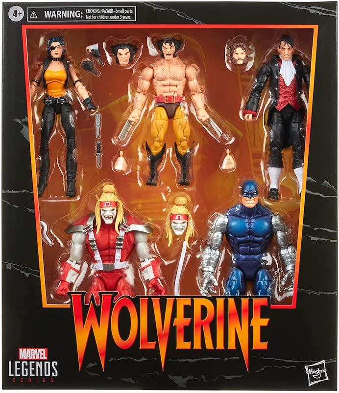 Hasbro Marvel Legends 6″ Wolverine 5-Pack Amazon Exclusive Box Set Available Now
