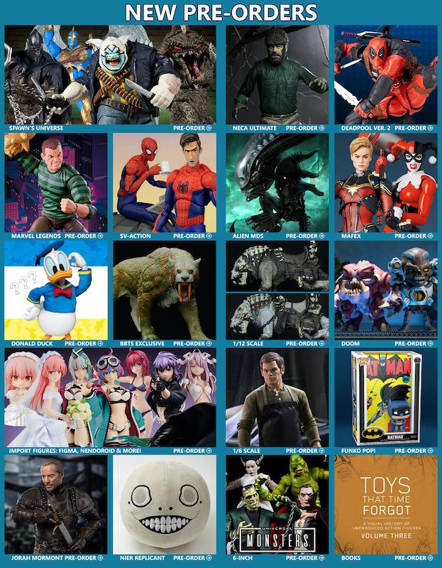 BigBadToyStore News – Spawn, Universal Monsters, Alien, Deadpool, Spider-Man, Dinosaurs, Dexter, Star Wars, DuckTales & More