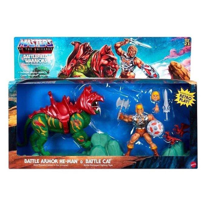 Mattel – Masters of the Universe: Origins – Battlefield Warriors – Battle Armor He-Man & Battle Cat Figures