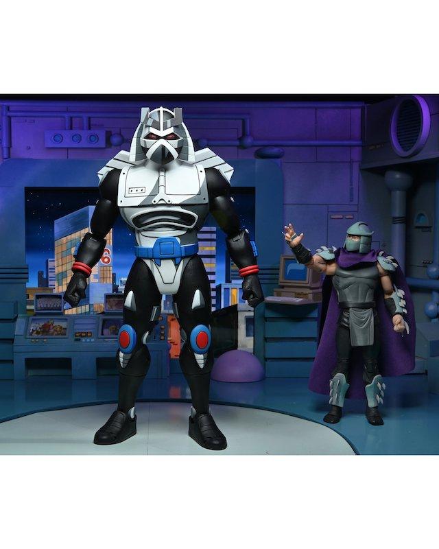 NECA Toys Teenage Mutant Ninja Turtles Classic Cartoon Chrome Dome Figure Images