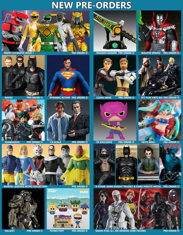 BigBadToyStore News – Power Rangers, DC, Star Wars, Spawn, Marvel, American Psycho, Yu-Gi-Oh!, Fortnite, Final Fantasy & More